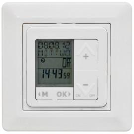 Zeitschaltuhr LCD Komplett, Unterputz, 230V / 10A, reinweiß, mit Astro Funktion, Paladin