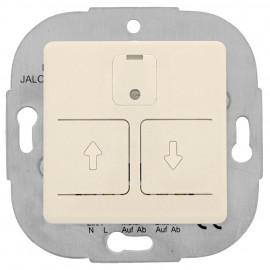 Jalousienschalter, elektronisch, Kombigerät, Unterputz, reinweiß