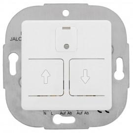 Jalousie Schalter, elektronisch, 230V / 750VA, mit Zentralplatte 50 x 50 mm, reinweiß