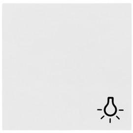 Schaltereinsatz Wippe für Taster Licht, SYSTEM 55 reinweiß glänzend