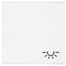 Schaltereinsatz Wippe für Taster, mit Symbol Licht, SERIE AS alpinweiß glänzend