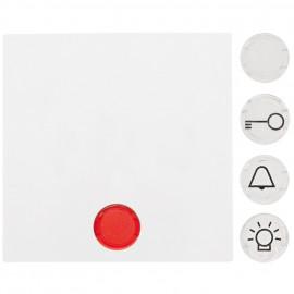 Wippe für Kontroll Schalter / Taster, mit Linsen, SERIE S.1 polarweiß glänzend