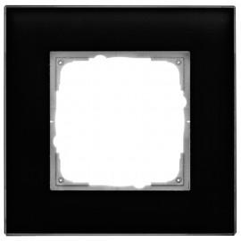 Schaltereinsatz Abdeckrahmen, 1 fach, Glas klar / schwarz, KLEIN® K55