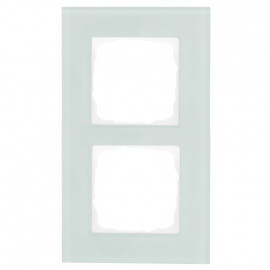 Schaltereinsatz Abdeckrahmen, 2 fach, mint / weiß, KLEIN® K55