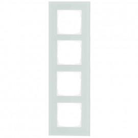 Schaltereinsatz Abdeckrahmen, 4 fach, mint / weiß, KLEIN® K55