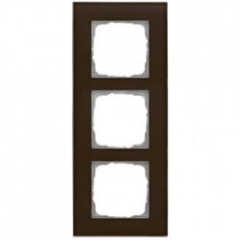 Schaltereinsatz Abdeckrahmen, 3 fach, Glas klar / umbra, KLEIN® K55