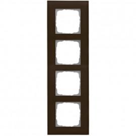 Schaltereinsatz Abdeckrahmen, 4 fach, Glas klar / umbra, KLEIN® K55
