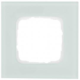 Abdeckrahmen Schalterprogramme, 1 fach, Glas mint / weiß, KLEIN SI®