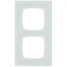 Abdeckrahmen Schalterprogramme, 2 fach, Glas mint / weiß, KLEIN SI®
