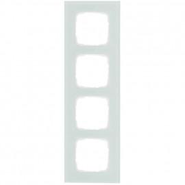 Abdeckrahmen Schalterprogramme, 4 fach, Glas mint / weiß, KLEIN SI®