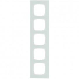 Abdeckrahmen Schalterprogramme, 5 fach, Glas mint / weiß, KLEIN SI®