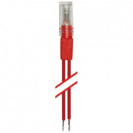 Schaltereinsatz Universal Glimmlampen, 25 x 6 mm, 230V/0,4mA, 120 mm Leitung