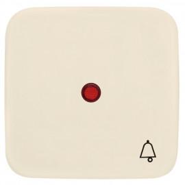 Wippe für Taster, mit Symbol 'Klingel' und Linse, KLEIN SI® weiß