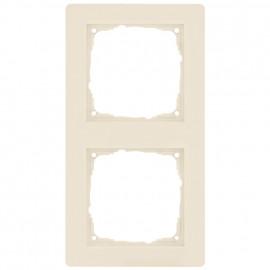 Schaltereinsatz Abdeckrahmen, 2 fach, KLEIN® K55 weiß