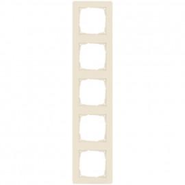 Schaltereinsatz Abdeckrahmen, 5 fach, KLEIN® K55 weiß