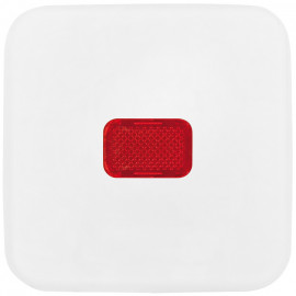 Schaltereinsatz Wippe Kontroll für Taster, REFLEX SI alpinweiß