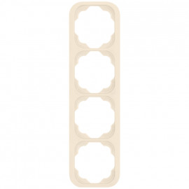 Schaltereinsatz senkrecht 4 fach Abdeckrahmen, KLEIN LX® weiß
