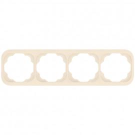 Schaltereinsatz waagerecht 4 fach Abdeckrahmen, KLEIN LX® weiß