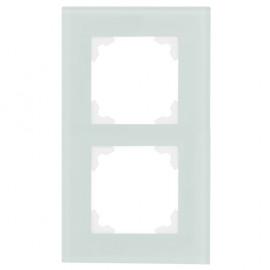 Schalter Abdeckrahmen, Wippenmaß 50 x 50 mm 2 fach, KLEIN® K50 mint / weiß