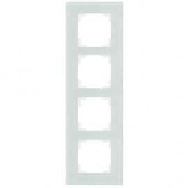 Schalter Abdeckrahmen, Wippenmaß 50 x 50 mm 4 fach, KLEIN® K50 mint / weiß