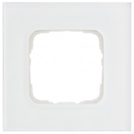 Abdeckrahmen Schalterprogramme, 1 fach, Glas klar / weiß, KLEIN SI®