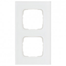Abdeckrahmen Schalterprogramme, 2 fach, Glas klar / weiß, KLEIN SI®