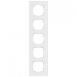 Abdeckrahmen Schalterprogramme, 5 fach, Glas klar / weiß, KLEIN SI®
