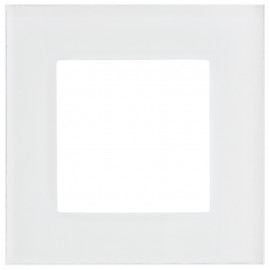 Schaltereinsatz Abdeckrahmen, 1 fach, Glas klar / weiß, KLEIN® K55