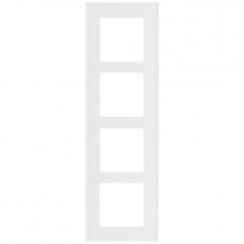 Schaltereinsatz Abdeckrahmen, 4 fach, Glas klar / weiß, KLEIN® K55