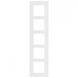 Schaltereinsatz Abdeckrahmen, 5 fach, Glas klar / weiß, KLEIN® K55