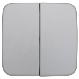 Wippe Schalterprogramme Serien Doppelwechsel Schalter, KLEIN SI® silber matt