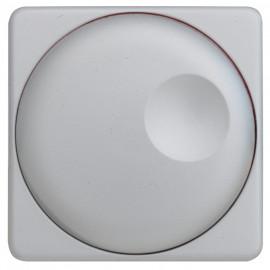Abdeckung Schalterprogramme Dreh und Druck Dimmer, beleuchtbar, KLEIN SI® silber matt