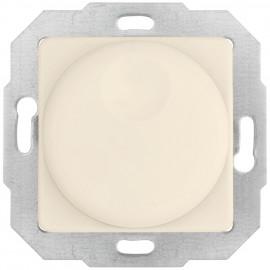 Dimmereinsatz Druck -/ Wechsel, 40-600 W, mit Zentralplatte 50 x 50 mm, weiß