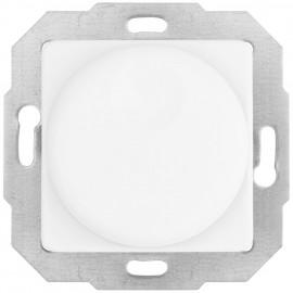 Dimmereinsatz Druck -/ Wechsel, 40-600 W, mit Zentralplatte 50 x 50 mm, reinweiß
