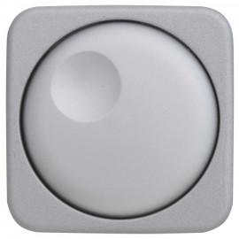 Abdeckung Schalterprogramme Dreh- Druck-Dimmer, beleuchtbar, KLEIN SI® silber matt