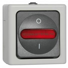 Schalter Heizung - Not, Aufputz, Feuchtraum, grau - hellgrau, IP44, Kopp Blue Electric