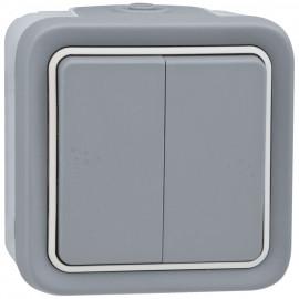 Wippschalter Serien - Schalter, Aufputz, Feuchtraum, IP55, grau, LEGRAND PLEXO