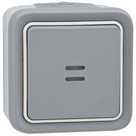 Wippschalter Kontroll / Wechsel - Schalter, Aufputz, Feuchtraum, IP55, grau, LEGRAND PLEXO