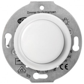 Tast Dimmereinsatz Kombi, Unterputz, 60 - 600W, Porzellan weiß, THPG