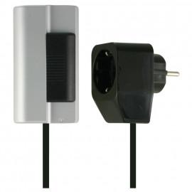 Lampen Schnur Tischdimmer, 20 - 500W, Phasenanschnitt, schwarz Ehmann