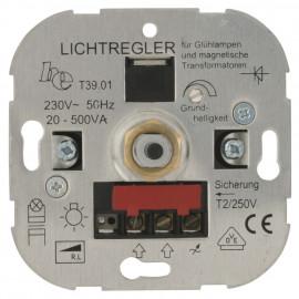 Dimmereinsatz, Druck / Wechsel, LUMEO® DOMUS, T39.01 20 - 500VA, Ehmann