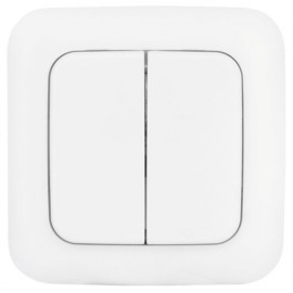 Funk Wandsender Komplett, 2 Kanal (2 Wippen), reinweiß, Smartwares