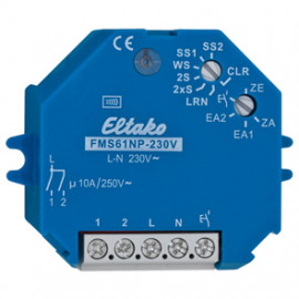 Funk Schaltempfänger, FMS61NP - 230V, 1 Kanal, 1+1 Schließer 230V / 10A