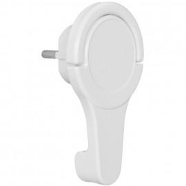 Schutzkontaktstecker, extraflach Winkelstecker mit klappbarem Griffelement weiß
