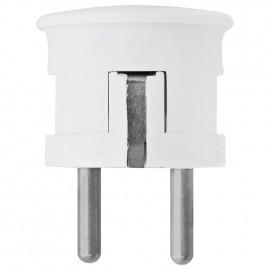 Schutzkontakt Winkelstecker, weiß, Thermoplast - Kaiser