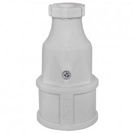 Schutzkontakt Kupplung, grau PVC - Popp
