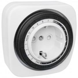 Steckdosen Zeitschaltuhr, analog, 230V / 16A, weiß Schaltabstand 15 Minuten