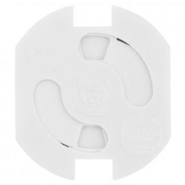 5 Stück Steckdosen Kinderschutz, TEDDY-AUTOMATIK, weiß zum Einkleben