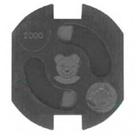 5 Stück Steckdosen Kinderschutz, TEDDY-AUTOMATIK, schwarz zum Einkleben
