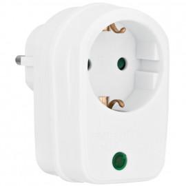 Überspannungsschutz Adapter,mit Kontroll Leuchte, Schutzkontakt Steckdose